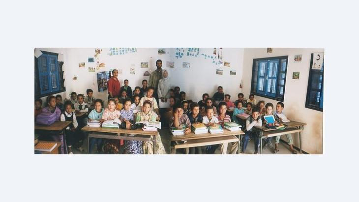 Students in their classroom in Essaouira during a visit of the 'book caravan' (photo: Regina Keil-Sagawe)