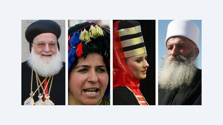 Representatives of religious and ethnic minorities in Syria (photo: ddp/AP/DW)