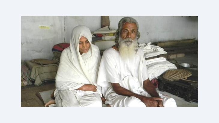 A Baul and his partner, the Baulani, in Kushtia, Bangladesh (photo: Sudipto Chatterjee)