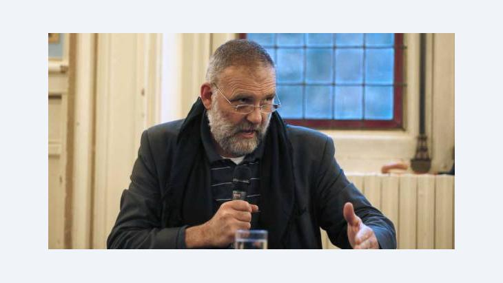Italian priest Paolo Dall'Oglio, expelled from Syria by Bashar al-Assad's government in June takes part in a conference on the theme 'Syrian Christians', on September 25, 2012 in Paris (photo: AFP/GettyImages)