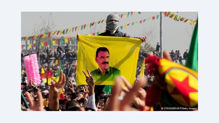 Supporters of PKK leader Öcalan near Diyabakir (photo: Stringer/AFP/Getty Images)