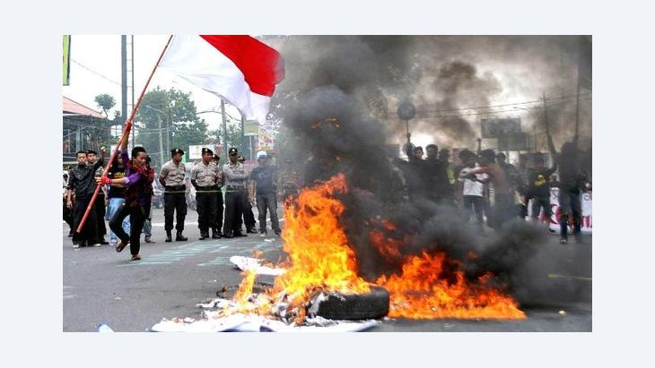 Protests against President Yudhoyono's economic policy in Jakarta, Indonesia (photo: picture-alliance/dpa)