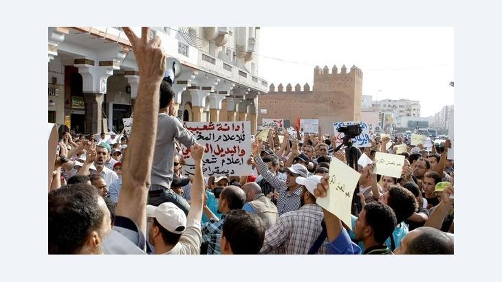 Anti-government protests of the 20 February movement in Rabat (photo: AP)