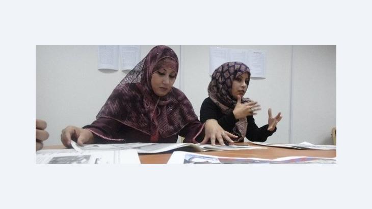 Editors working for the weekly newspaper 'Libya Al Jadeeda' (photo: Werner D'Inka)