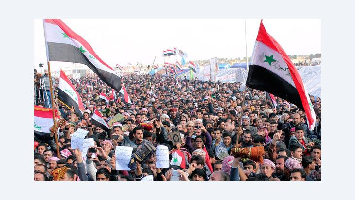 Anti-government demonstration in Ramadi, Iraq, in February 2013 (photo: Reuters)