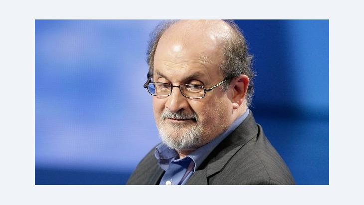 British Indian novelist and essayist Salman Rushdie on Italian State RAI TV (photo: AP)