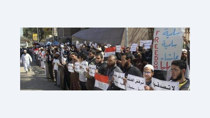 Salafists protesting in Cairo (photo: AP)