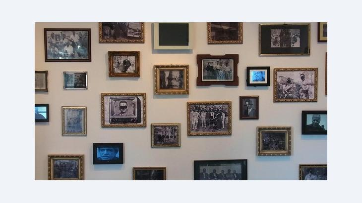 Beirut exhibition of Salah Saouli's 'The Days of the Blue Bat' project (photo: Charlotte Bank)