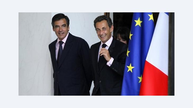 French President Nicolas Sarkozy and French Prime Minister François Fillon at the Elysée Palace (photo: Reuters)