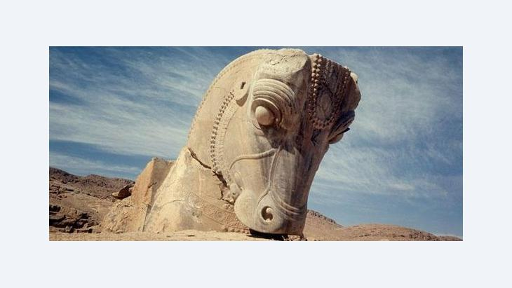 Stone head of a horse in Persepolis (photo: dpa)