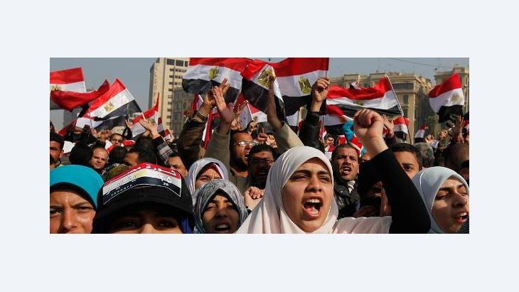Protests on Tahrir Square on 25 January 2012 (photo: Reuters)