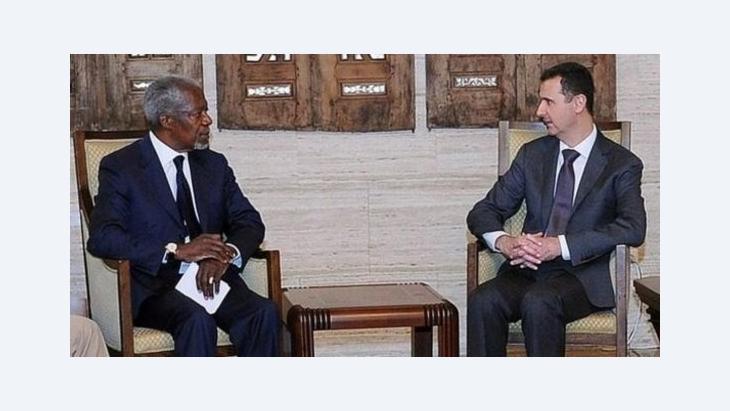 Kofi Annan and Bashar al-Assad (photo: dpa)