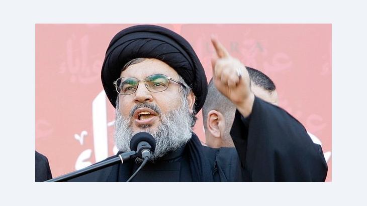 Sheikh Hassan Nasrallah (photo: AP)