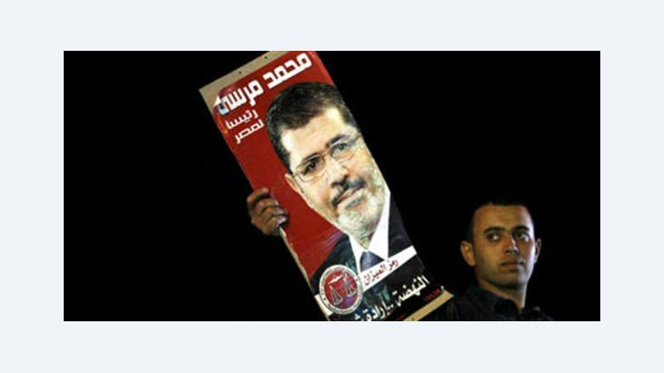 Supporter of Mohammed Mursi in Cairo (photo: Reuters)