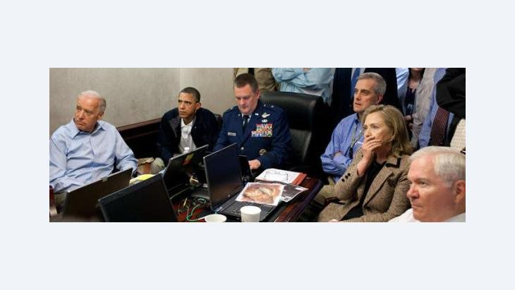 The US government follows the operation against Osama Bin Laden on screen (photo: AP/The White House)