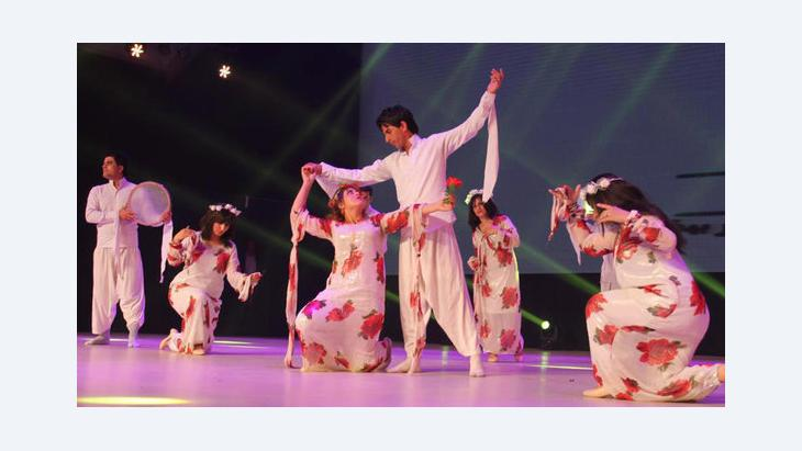 Dance performance in Baghdad, Arab Capital of Culture 2013 (photo: DW/Alshimary)