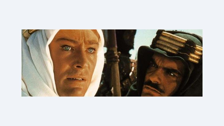 "Peter O'Toole and Omar Sharif in the movie ""Lawrence of  Arabia"" of 1962 (photo: dpa)"