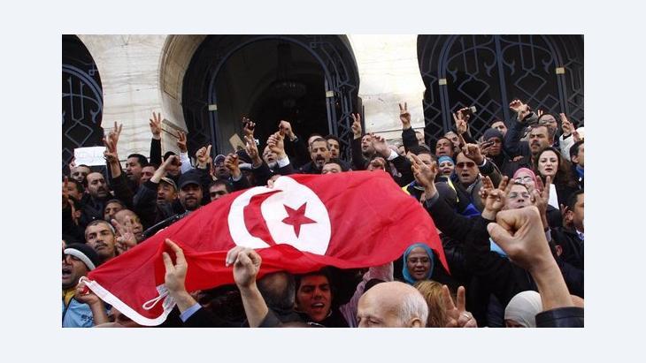 Rally in Tunis (photo: dpa)