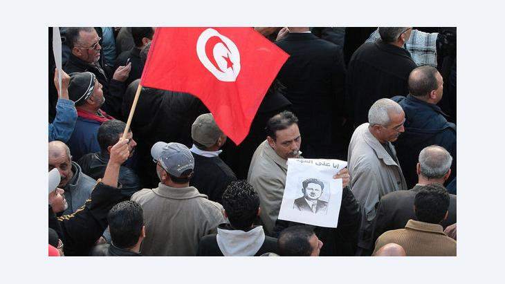 Demonstration of the UGTT in Tunis (photo: dapd)