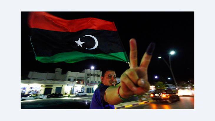 A man celebrating after the elections in Libya (photo: Reuters)