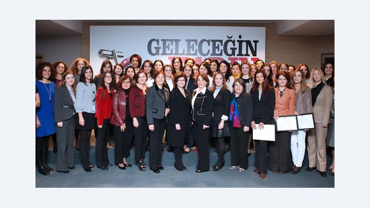 Turkish women entrepreneurs during a training seminar by Women Entrepreneurs Association of Turkey, KAGİDER (photo: KAGIDER)