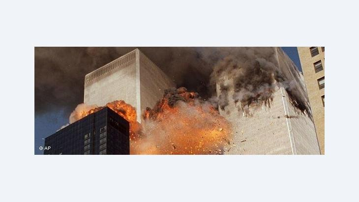 Explosion at the World Trade Centre on 11 September 2011 (photo: AP)