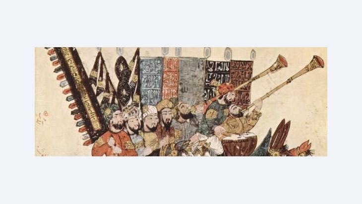 Yahya ibn Mahmud al-Wasiti, the 7th Maqāma of Maqamat al-Harīrī dating from the mid-10th century, with a 13th century illustration