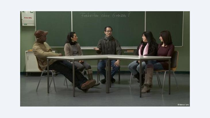People taking part in an integration course in Germany (photo: Markus Lenz)