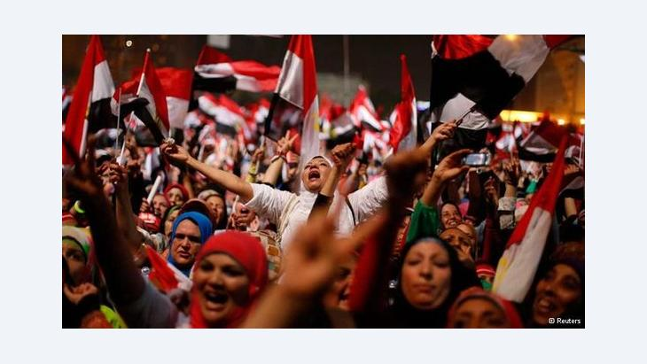Revolutionaries in Egypt celebrate the ouster of president Mohammed Mursi (photo: Reuters)
