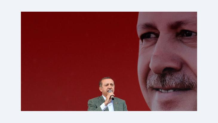 Turkey's prime minister Erdogan at a rally of his ruling conservative AK party in Ankara (photo: Reuters)