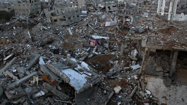 A view of the Shejaia district in Gaza City