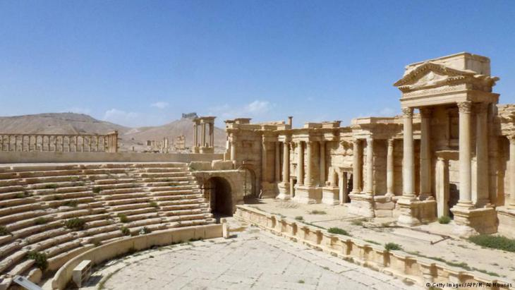 Palmyra's Roman theatre: built around 200 A.D., the theatre appears to be in good condition. It was here that jihadists held mass executions last year, while also using the stage as a set for their violent propaganda videos. A memorial for these recent events will likely be part of the restoration efforts