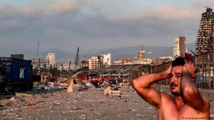 The detonations turned the immediate surroundings into a sea of rubble