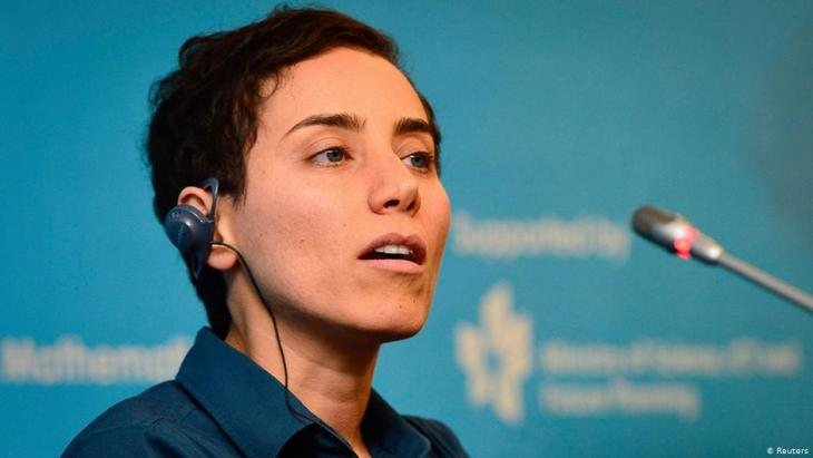 Iranian mathematician Maryam Mirzakhani speaks during a news conference following the Fields Medal award ceremony at the International Congress of Mathematicians in Seoul, 13 August 2014.