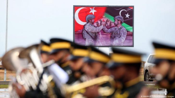 Turkish military in Tajoura, southeast of Tripoli, November 2020.