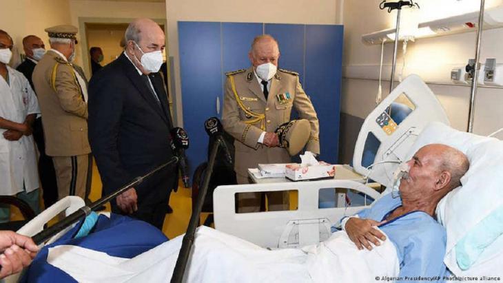 Brahim Ghali in hospital in Algiers.