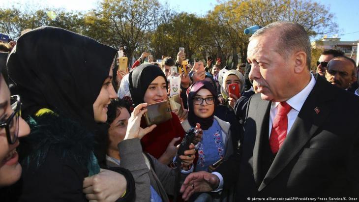 Turkey's President Erdogan visiting Greece, 2017.