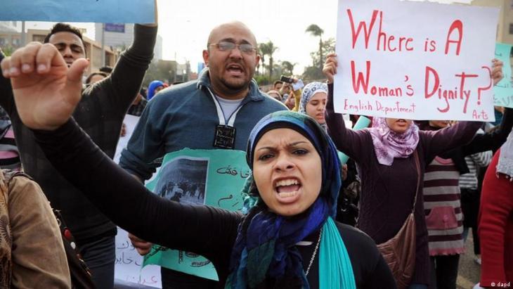 Women protesting in Cairo in 2012.
