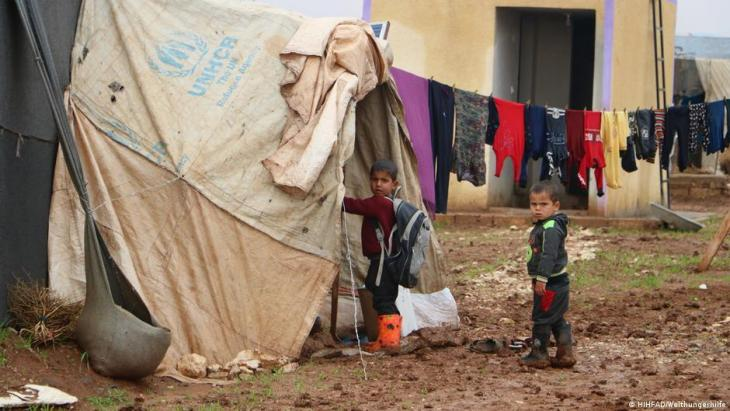 Camp for internally displaced persons in Idlib.