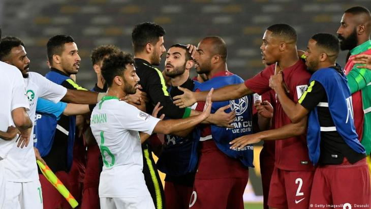 Group E match at the 2019 Asian Cup between Qatar and Saudi Arabia