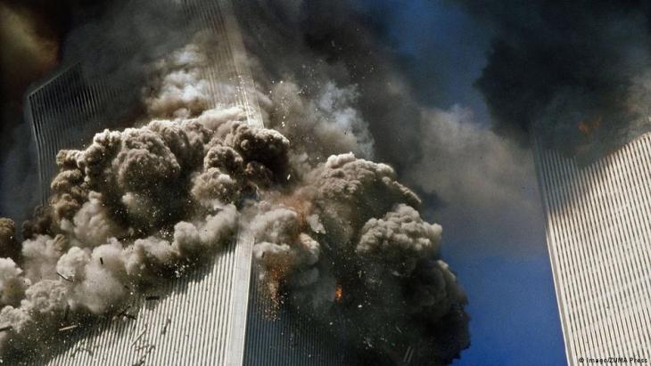 Attacks on 11 September 2001 in New York.