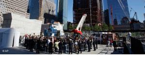 Memorial service at Ground Zero (photo: AP)