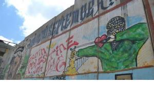 Graffiti on the wall at the checkpoint Qalandia (photo: Yannick von Lautz)