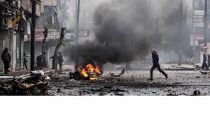 Wreckage and debris are seen after a car bomb exploded at a crowded petrol station in Barzeh al-Balad district in Damascus, in this handout photograph released by Syria's national news agency SANA on January 3, 2013 (photo: dapd)