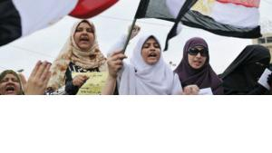 Women protesting in Cairo against the Mubarak regime (photo: dpa)