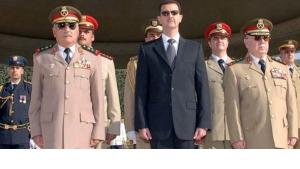 Syria's President Assad and generals of the Syrian army (photo: dpa)