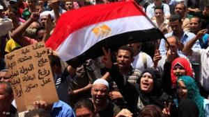 Demonstrators on Tahrir Square in Cairo (photo: AP)
