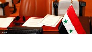 Syria's empty seat at the Arab League summit in Morocco (photo: dapd)