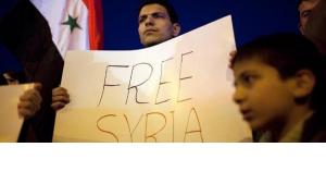 Protest against the Assad regime in Jerusalem (photo: EPA/ABIR SULTAN)
