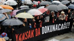 Journalists protest for the freedom of the press in Turkey (photo: dpa)